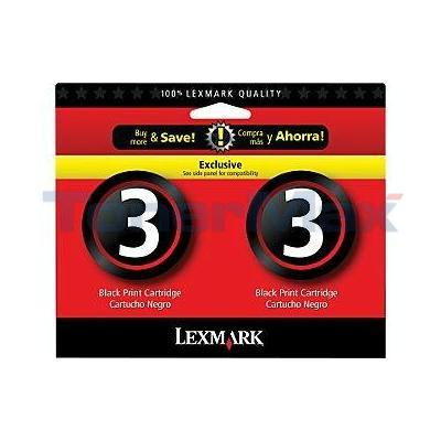 LEXMARK #3 INK CART BLACK TWIN PACK